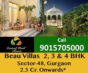 Central Park Resorts Beau Sky Villas Gurgaon 9015705000