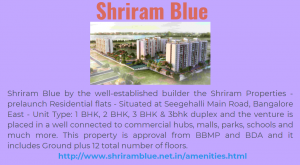 Shriram Blue Is A New Upcoming Property In Bangalore