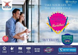 Spaze Sky Villas Apartments Sector 93 Gurgaon +91-90157-050